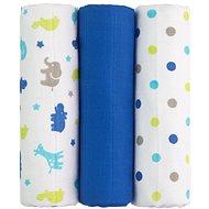 T-tomi textil TETRA pelenka blue giraffe - Textilpelenka