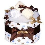 T-tomi nagy pelenka torta - fehér mancsok - Pelenkatorta