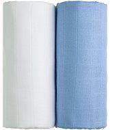 T-tomi TETRA fürdőlepedő, 2 db fehér + kék - Gyerek fürdőlepedő