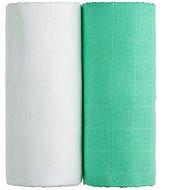 T-tomi TETRA fürdőlepedő, 2 db fehér + zöld - Gyerek fürdőlepedő