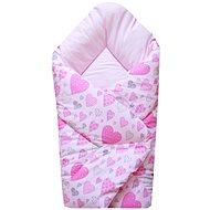 COSING SLEEPLEASE Rózsaszín szív - Pólya