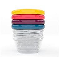 BABYMOOV 120 ml-es tálkák színes fedővel- 4 db - Tál készlet