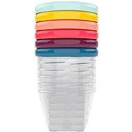 BABYMOOV Edény színes fedővel, 180 ml - 6 db - Tál készlet