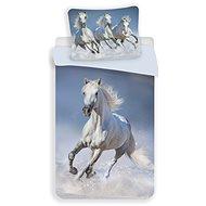 """Jerry Fabrics ágynemű huzat - Horses """"White"""" - Gyerek ágyneműhuzat"""