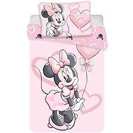 Jerry Fabrics ágynemű huzat - Minnie pink heart baby - Gyerek ágyneműhuzat