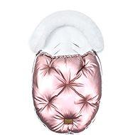 Floo for Baby Alaska ragyogó rózsaszín / fehér - Babakocsi bundazsák