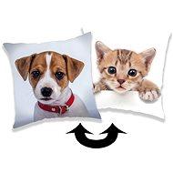 Jerry Fabrics párna kutya és macska flitterekkel - Párna