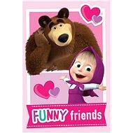 """Jerry Fabrics Masha and the Bear """"Friends"""" gyerek pléd - Takaró"""