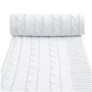 T-tomi kötött takaró fehér - Babakocsi takaró