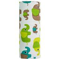 T-tomi BIO bambusz törölköző green elephants - Gyerek fürdőlepedő