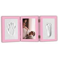 GOLD BABY Nyitható hármas keret a lenyomathoz - rózsaszín - Nyomtató készlet