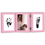 GOLD BABY Nyitható háromkeret a tinta lenyomatához - rózsaszín