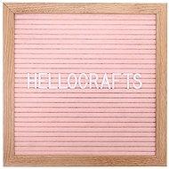 GOLD BABY Letterboard - 360 betű - halvány rózsaszín - Üzenőtábla