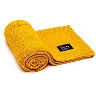 Eseco Kötött takaró - mustárszín - Gyermek takaró