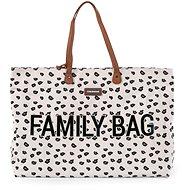 CHILDHOME Family Bag Canvas Leopard - Pelenkázótáska