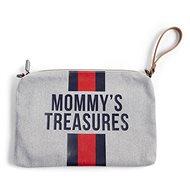 CHILDHOME tok hurokkal, szürke csíkokkal, piros / kék - Kozmetikai táska