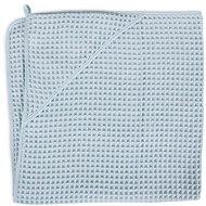 CEBA kapucnis törülköző Terry Waffle Line 100 × 100 cm - Mist Blue Ceba - Gyerek fürdőlepedő
