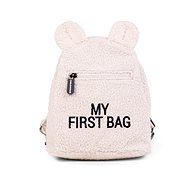 CHILDHOME My First Bag Teddy Off White - Hátizsák
