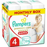 PAMPERS Premium Care Pants 4-es méret (126 db) - Pelenkanadrág