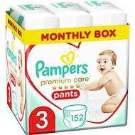 PAMPERS Premium Care Pants 3-as méret (152 db) - Pelenkanadrág