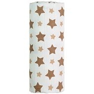 T-tomi bambusz törölköző, 1db - bézs csillagok - Gyerek fürdőlepedő