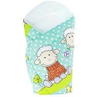 New Baby türkiz bárány mintával - Pólya