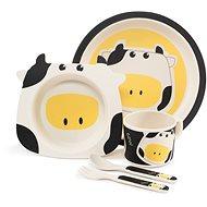 ZOPA Bambusz étkészlet - Cow - Gyerek étkészlet