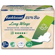VUOKKOSET 100% BIO Long Wings thin 10 db - Öko intimbetét