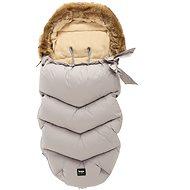 Zopa téli bundazsák szőrmével - szürke - Babakocsi bundazsák