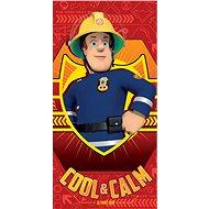 Jerry Fabrics Sam, a tűzoltó - piros - Gyerek fürdőlepedő