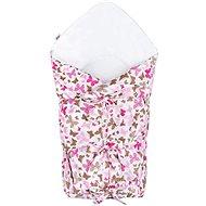 New Baby Klasszikus megkötős pólya - rózsaszín pillangók - Pólya