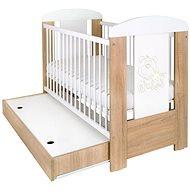 New Baby rácsos ágy ágyneműtartóval - tölgy - Babaágy