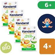 Kendamil Bio / organikus gluténmentes gyümölcspép 4 × 150 g - Tejmentes zabkása