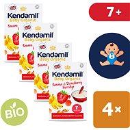 Kendamil Organikus / bio zabkása banán és eper 4 × 150 g - Tejmentes zabkása