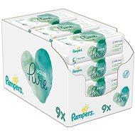 PAMPERS Aqua Pure nedves törlőkendők 9× 48 db - Baba törlőkendő