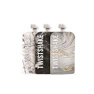 TWISTSHAKE Tölthető tasak 3 × 100 ml - márványszürke - Újratölthető bébiételtartó