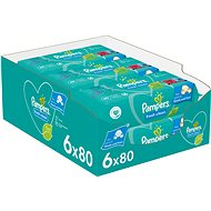 PAMPERS Fresh Clean XXL 6× 80 db - Baba törlőkendő