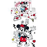 Jerry Fabrics ágynemű - Mickey & Minnie retro heart - Gyerek ágyneműhuzat