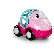 Babajáték Oball Lily játék versenyautó, rózsaszín, 18m+