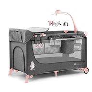 Kinderkraft Joy Pink - Utazóágy