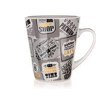 BANQUET  Kerámiabögre COFFEE 360 ml, szürke, 6 db - Bögre