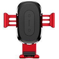 Baseus Gravity Car Mount vezeték nélküli töltő, piros - Vezeték nélküli töltő