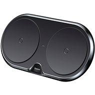 Baseus Dual Wireless Charger Black + Quick 3.0 Wall Charger & Cable - Vezeték nélküli töltő