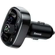 Baseus T Typed S-09 Wireless MP3 Car Charger Black - Autós töltő