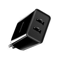 Hálózati adapter Baseus Speed Mini QC Dual USB Quick Charger 10,5W fekete