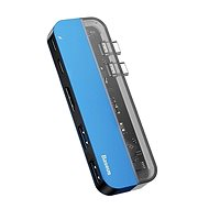 Baseus Transparent Series Dual USB-C Multifunctional HUB Adapter, Blue - Port replikátor