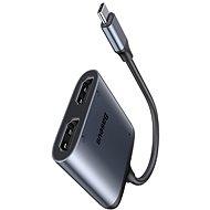 Baseus Enjoy Series Type-C (USB-C) to 2x HDMI 4K + PD Adapter Grey - Átalakító