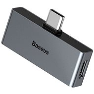 Baseus Type-C (M) to USB-C & 3.5mm Jack (F) Adapter L57 Black - Átalakító