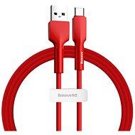 Baseus Silica Gel Cable USB to Type-C (USB-C) 2m Red - Adatkábel