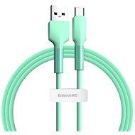 Baseus Silica Gel Cable USB to Type-C (USB-C) 2m Green - Adatkábel